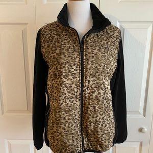 Ralph Lauren animal print full zip fleece